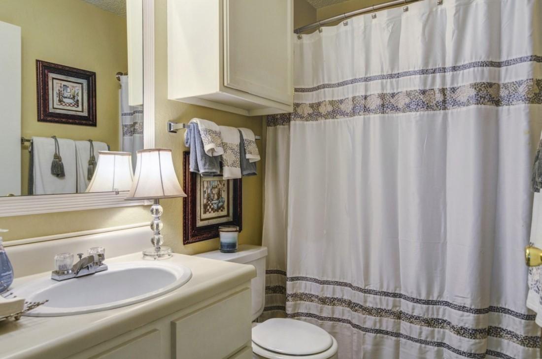 Bathroom Storage at Ridgewood Apartments in Hot Springs, Arkansas