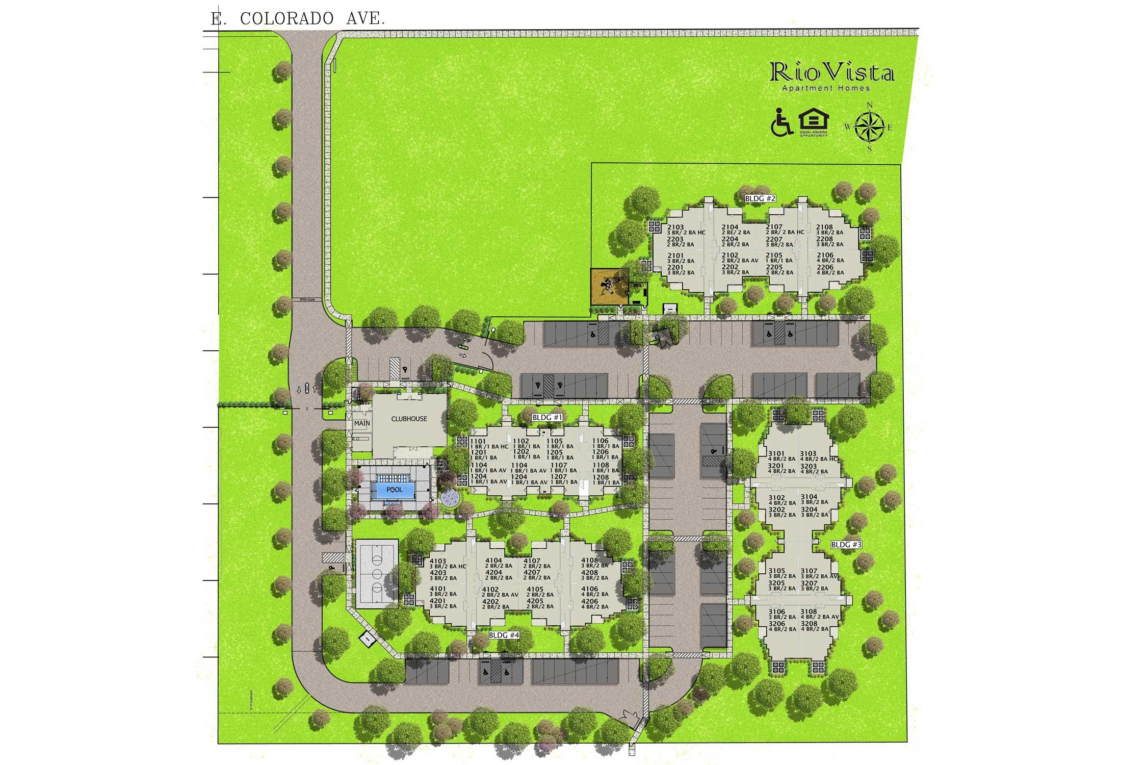 Rio Vista Apartment Homes Site Plan