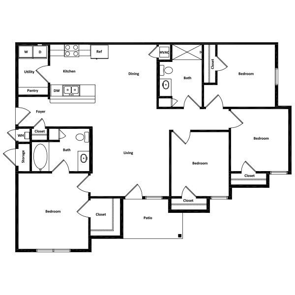 Rio Vista Apartment Homes - Floorplan - 4 Beds