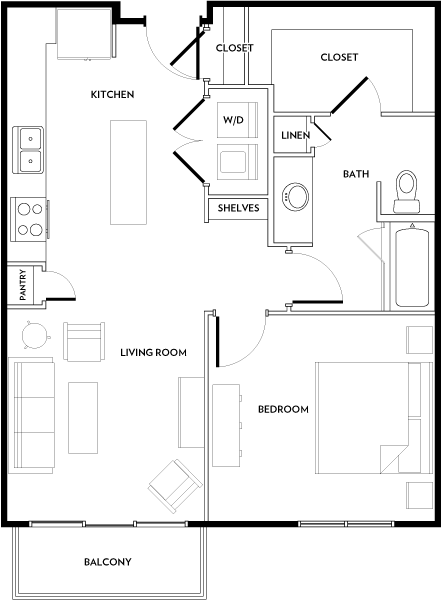 Rivera Apartments - Floorplan - A4