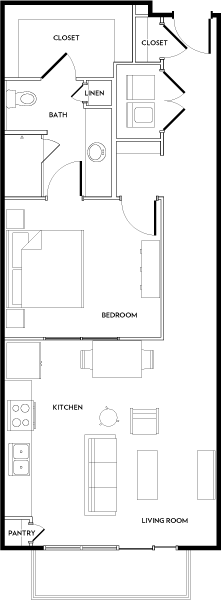 Rivera Apartments - Floorplan - A5