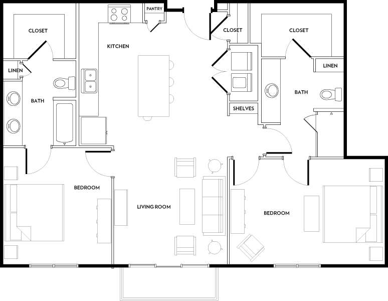 Rivera Apartments - Floorplan - B1B