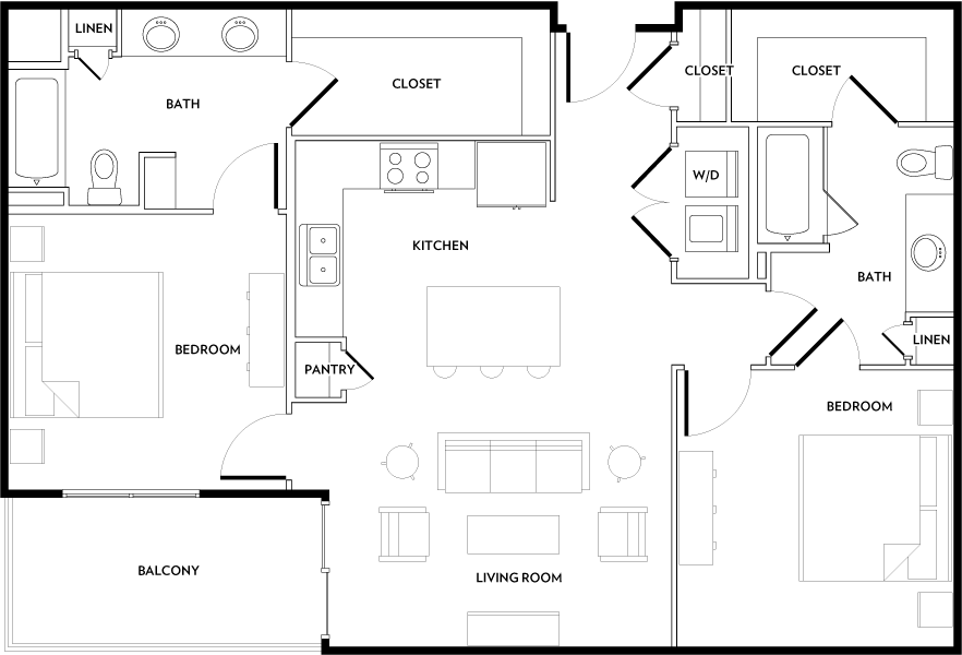 Rivera Apartments - Floorplan - B2