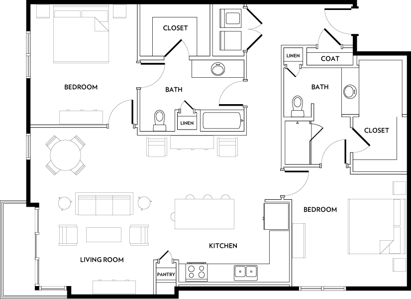 Rivera Apartments - Floorplan - B4