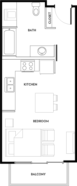 Rivera Apartments - Floorplan - E1