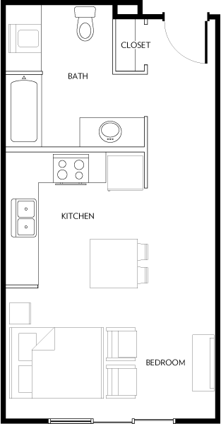 Rivera Apartments - Floorplan - E1A
