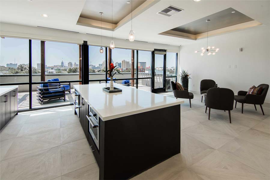 Stunning City Views of Downtown at Rivera Apartments in San Antonio, Texas