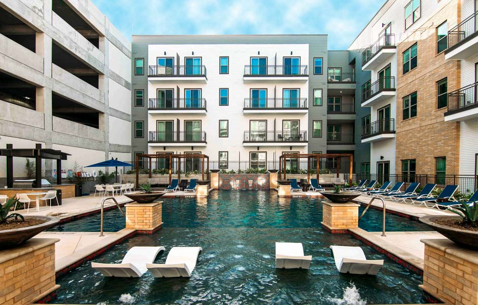 Resort-Style Swimming Pool at Rivera Apartments in San Antonio, Texas