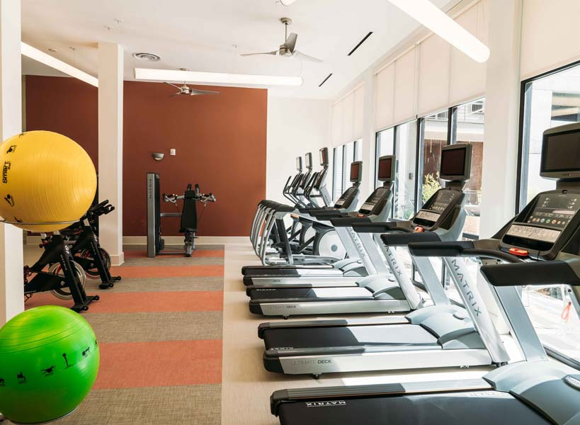State-of-the-Art Fitness Center at Rivera Apartments in San Antonio, Texas