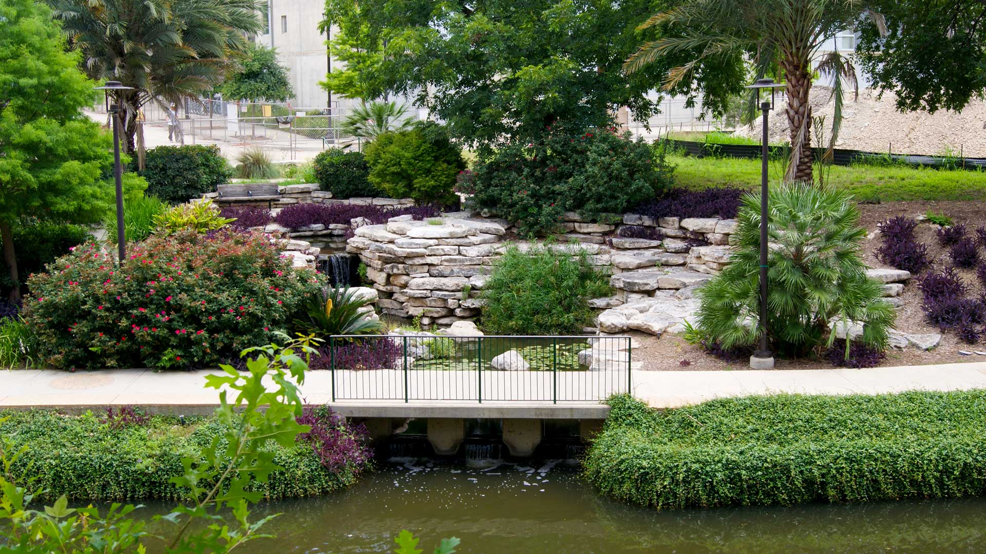 Lush Green Landscaping at Rivera Apartments in San Antonio, Texas