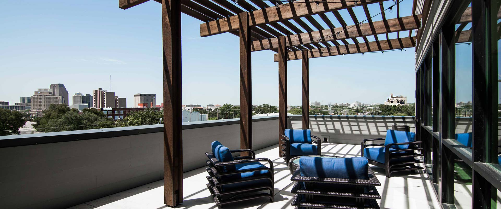Rooftop Lounge at Rivera Apartments in San Antonio, Texas