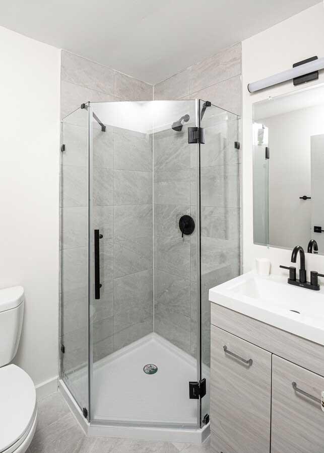 Shower at River Edge at Nyack Apartments in Nyack, NY