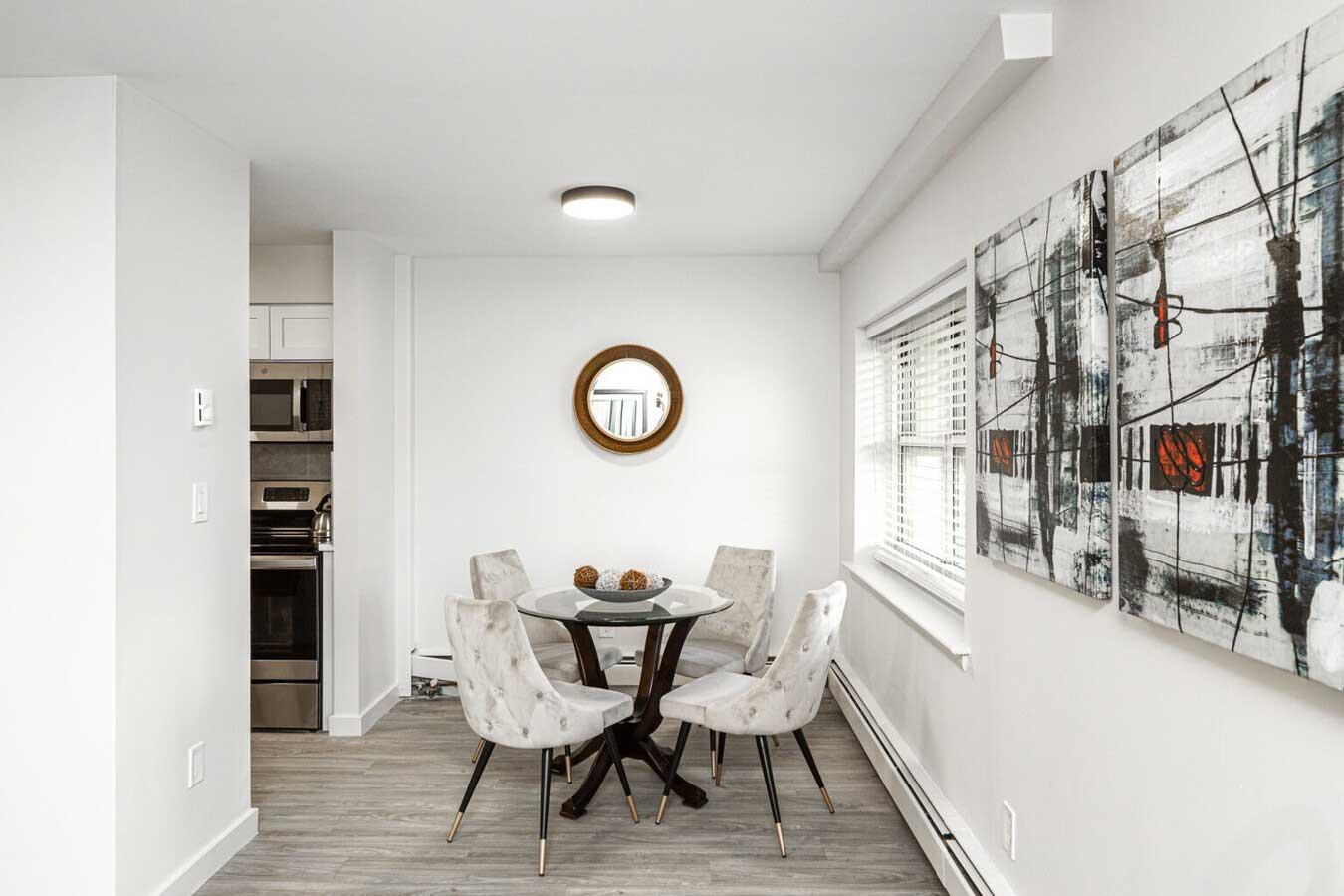 Dining at River Edge at Nyack Apartments in Nyack, NY