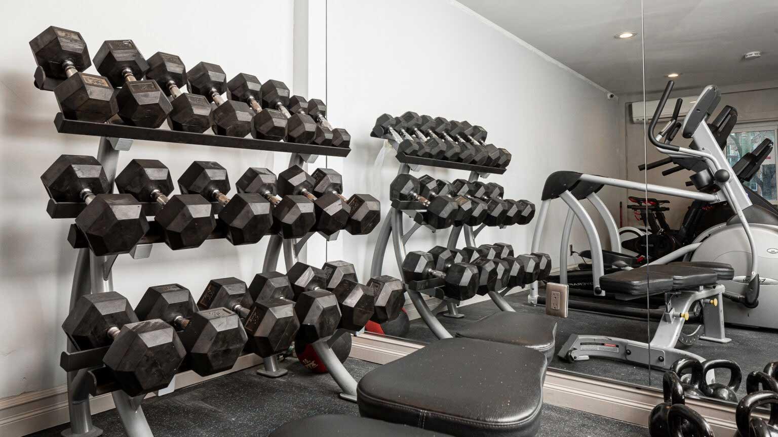 Fully Equipped Fitness Center at River Edge at Nyack Apartments in Nyack, NY