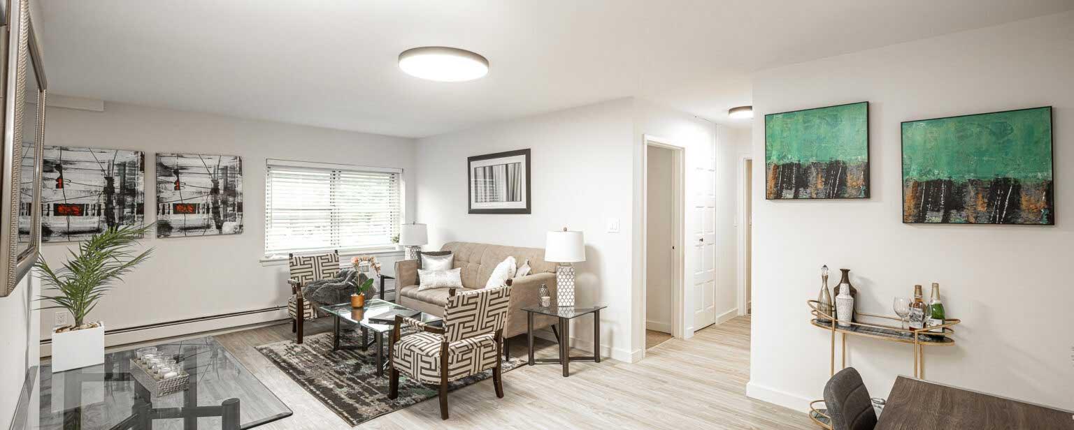 Living Room at River Edge at Nyack Apartments in Nyack, NY