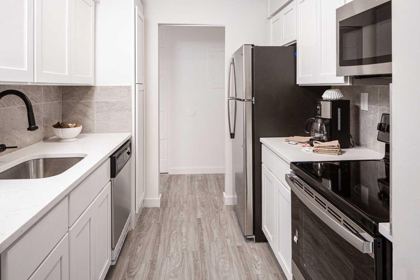 Renovated Kitchen at River Edge at Nyack Apartments in Nyack, NY