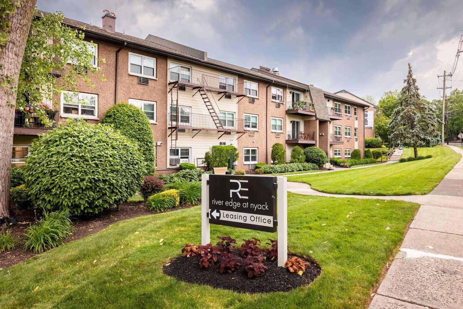 Welcome Sign at River Edge at Nyack Apartments in Nyack, NY