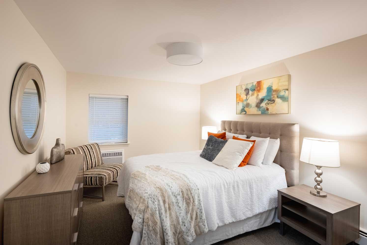 Bedroom at River Edge at Nyack Apartments in Nyack, NY