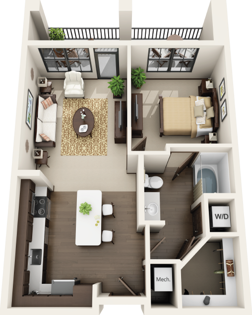 Riverhouse Apartments - Floorplan - A1
