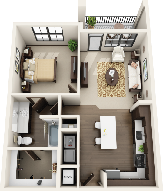 Riverhouse Apartments - Floorplan - A2