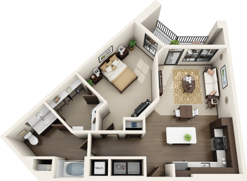 Riverhouse Apartments - Floorplan - A4