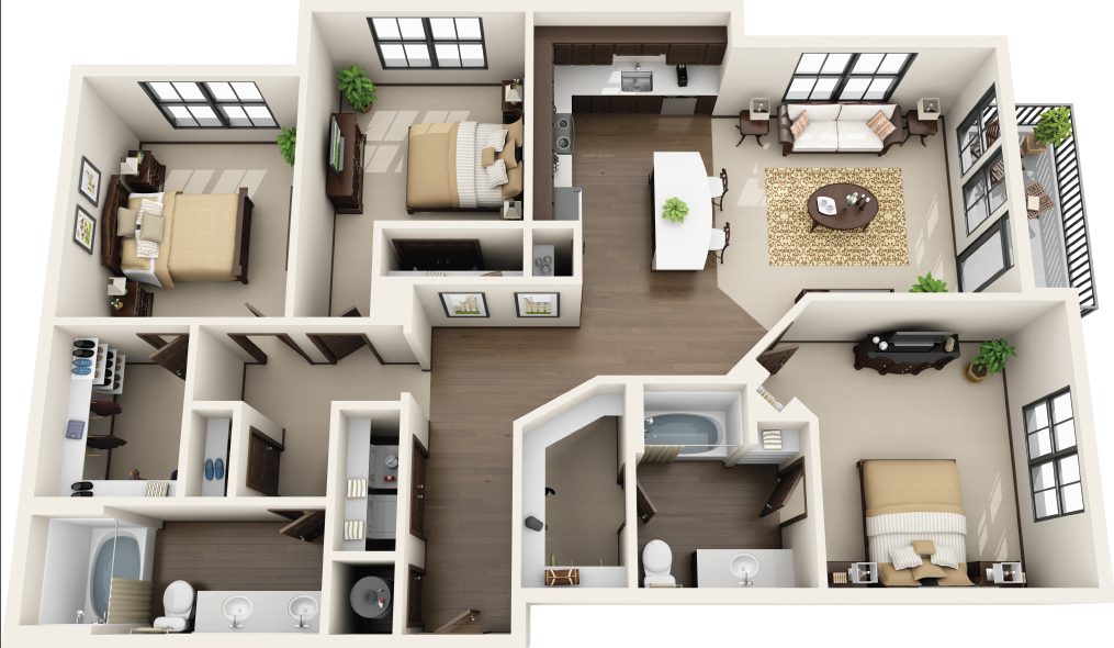 Riverhouse Apartments - Floorplan - C1