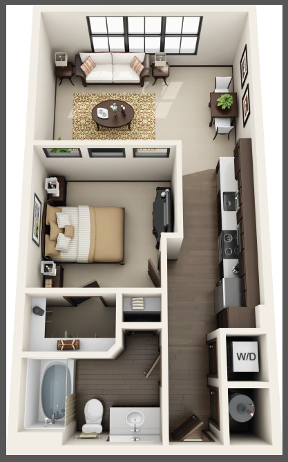 Riverhouse Apartments - Floorplan - S1