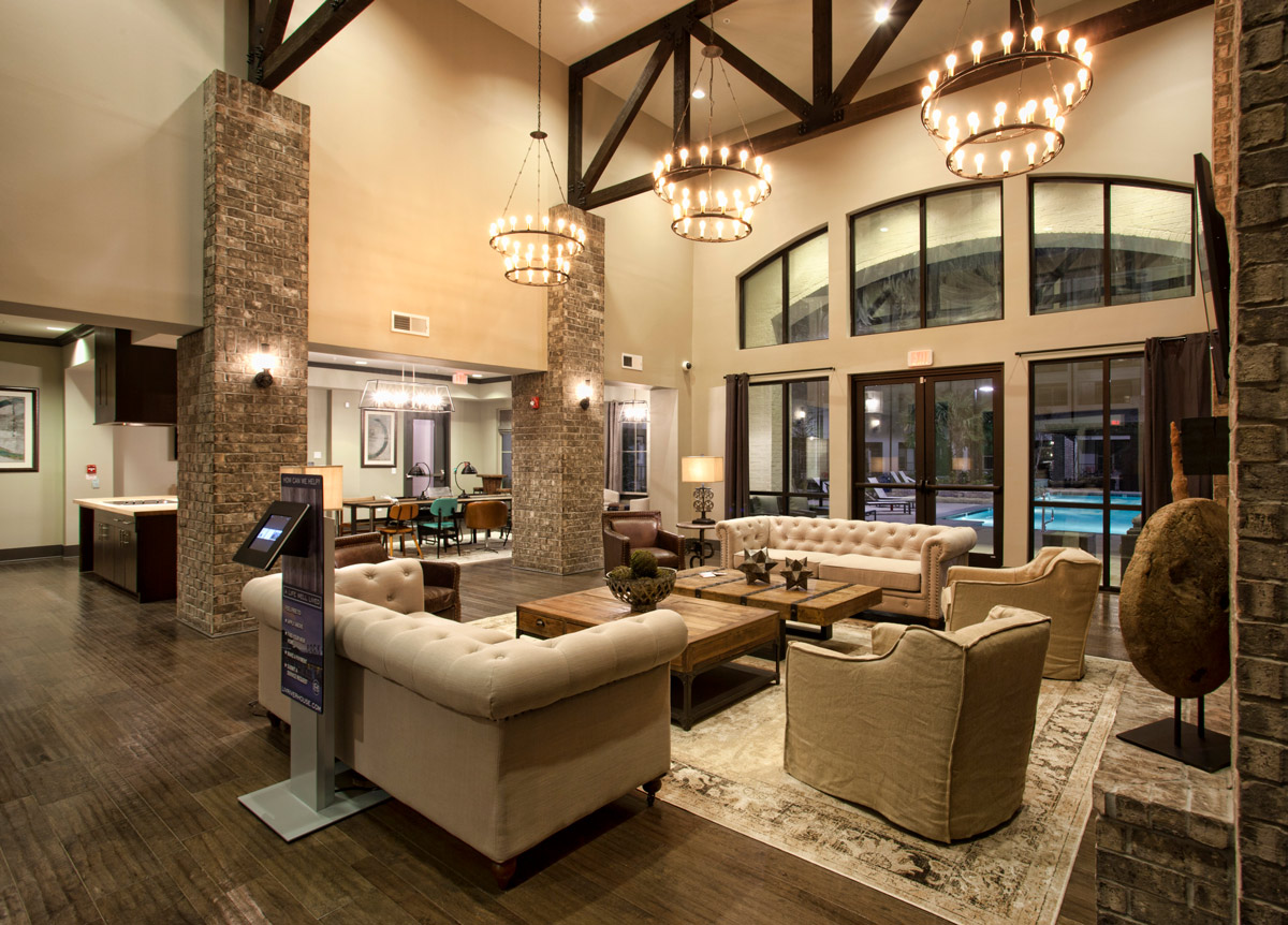 Community Clubhouse at Riverhouse Apartments in Little Rock, Arkansas