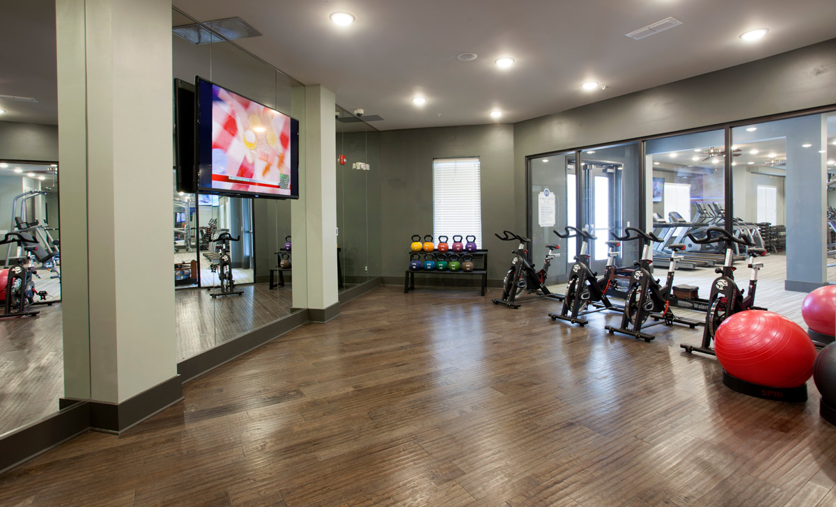 Yoga Studio and Fitness Center at Riverhouse Apartments in Little Rock, Arkansas