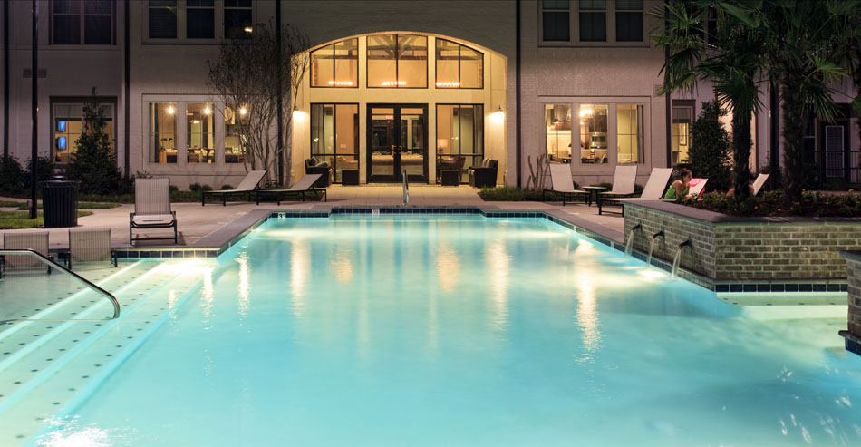 Sparkling Swimming Pool at Riverhouse Apartments in Little Rock, Arkansas