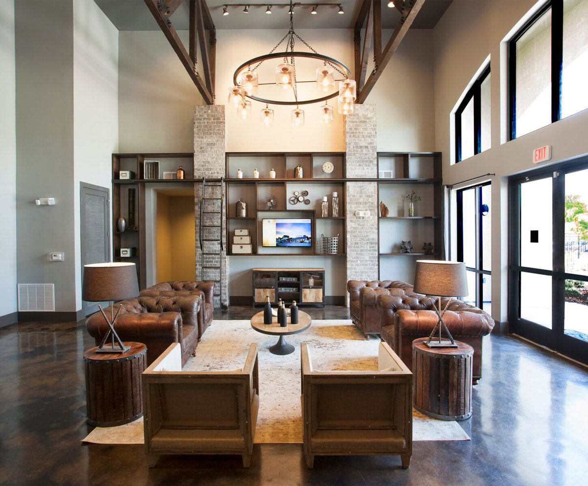 Clubhouse Lobby at Riverhouse Apartments in Little Rock, AR