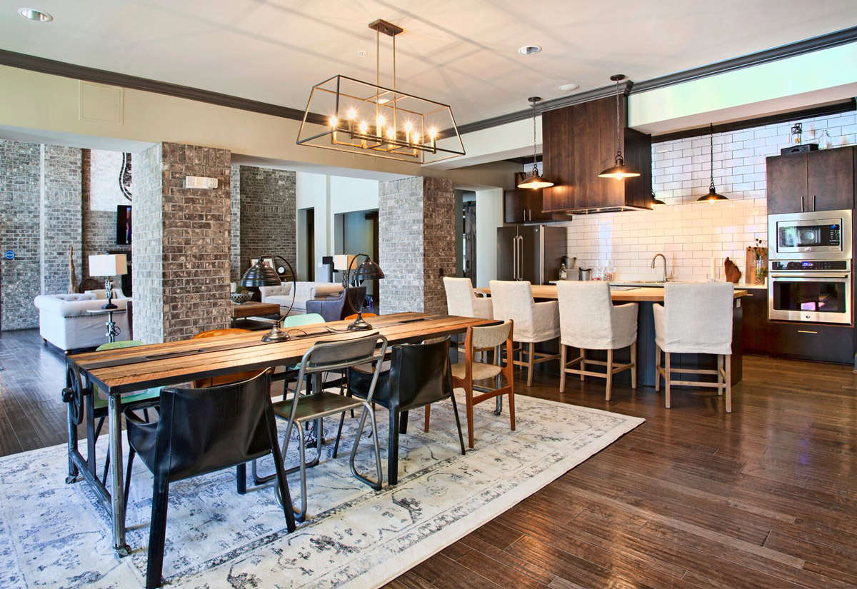 Contemporary Clubhouse Lounge at Riverhouse Apartments in Little Rock, Arkansas