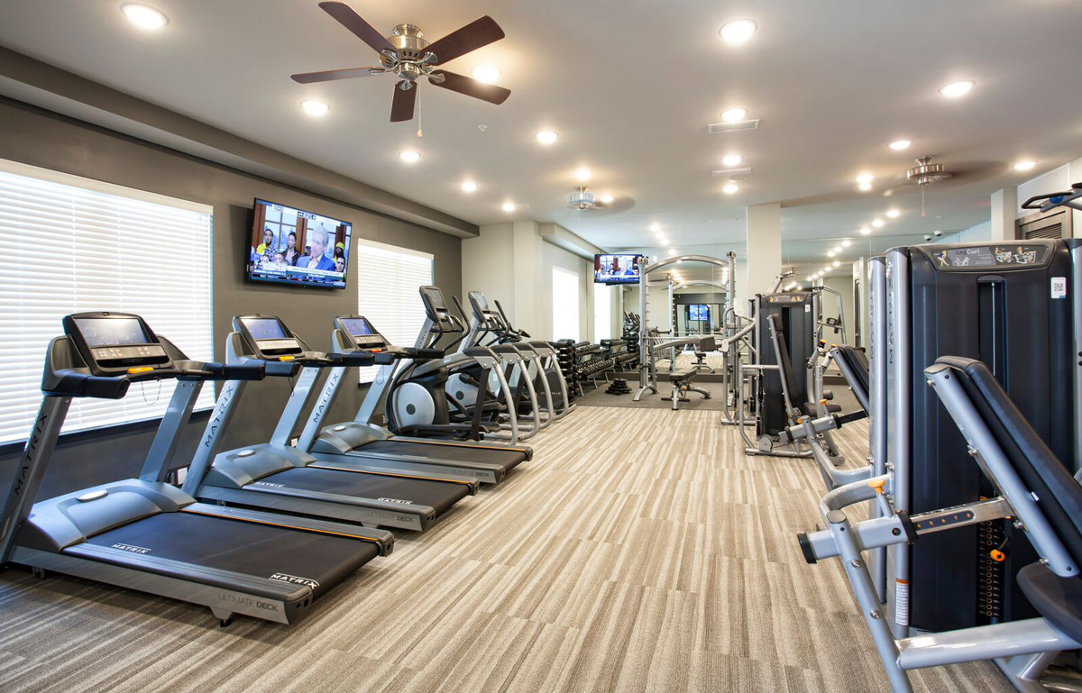 24-hour Fitness Center at Riverhouse Apartments in Little Rock, Arkansas