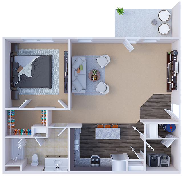 River Ridge Apartments - Floorplan - Berkley