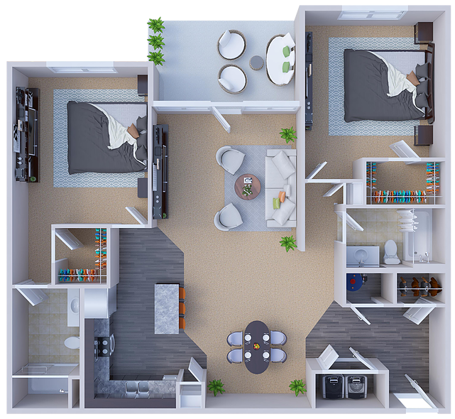 River Ridge Apartments - Floorplan - Lawrence
