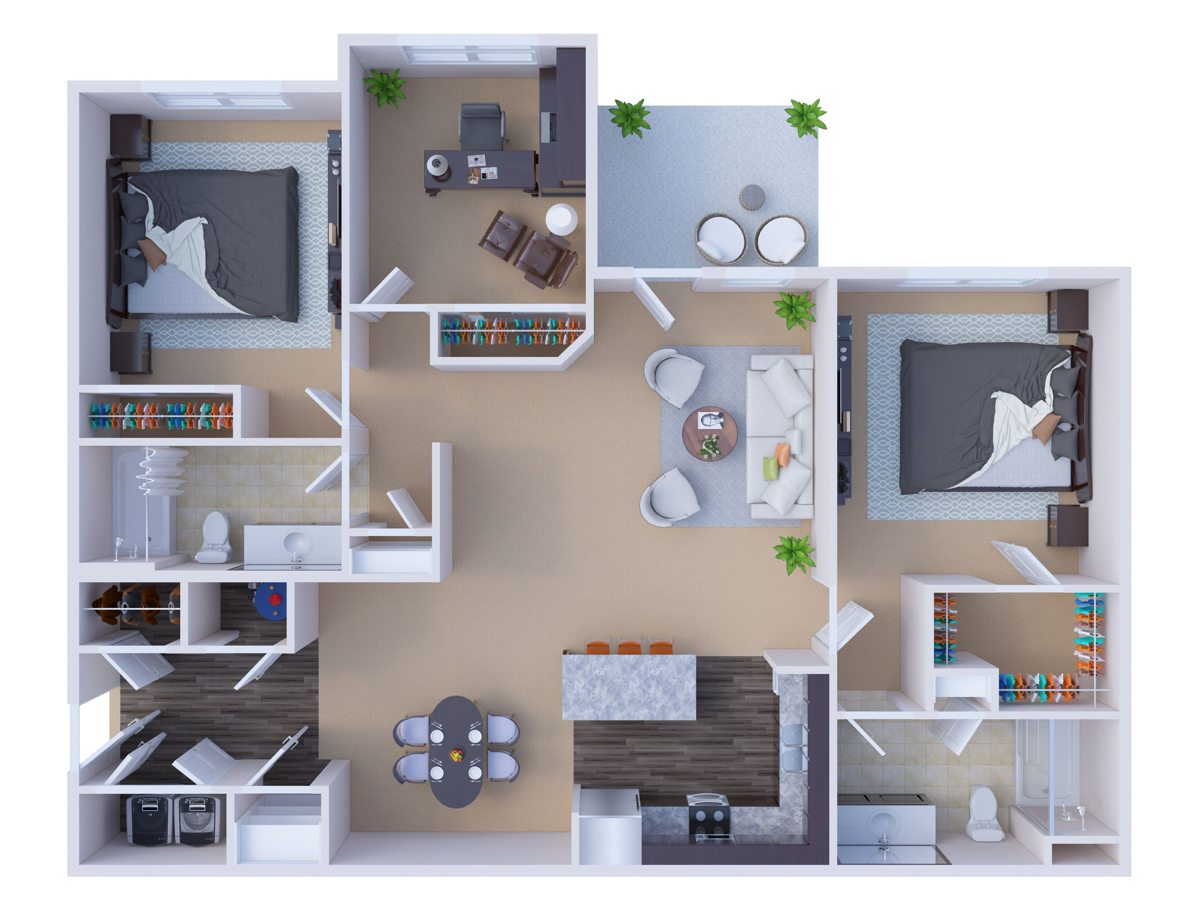 River Ridge Apartments - Floorplan - MacKenzie