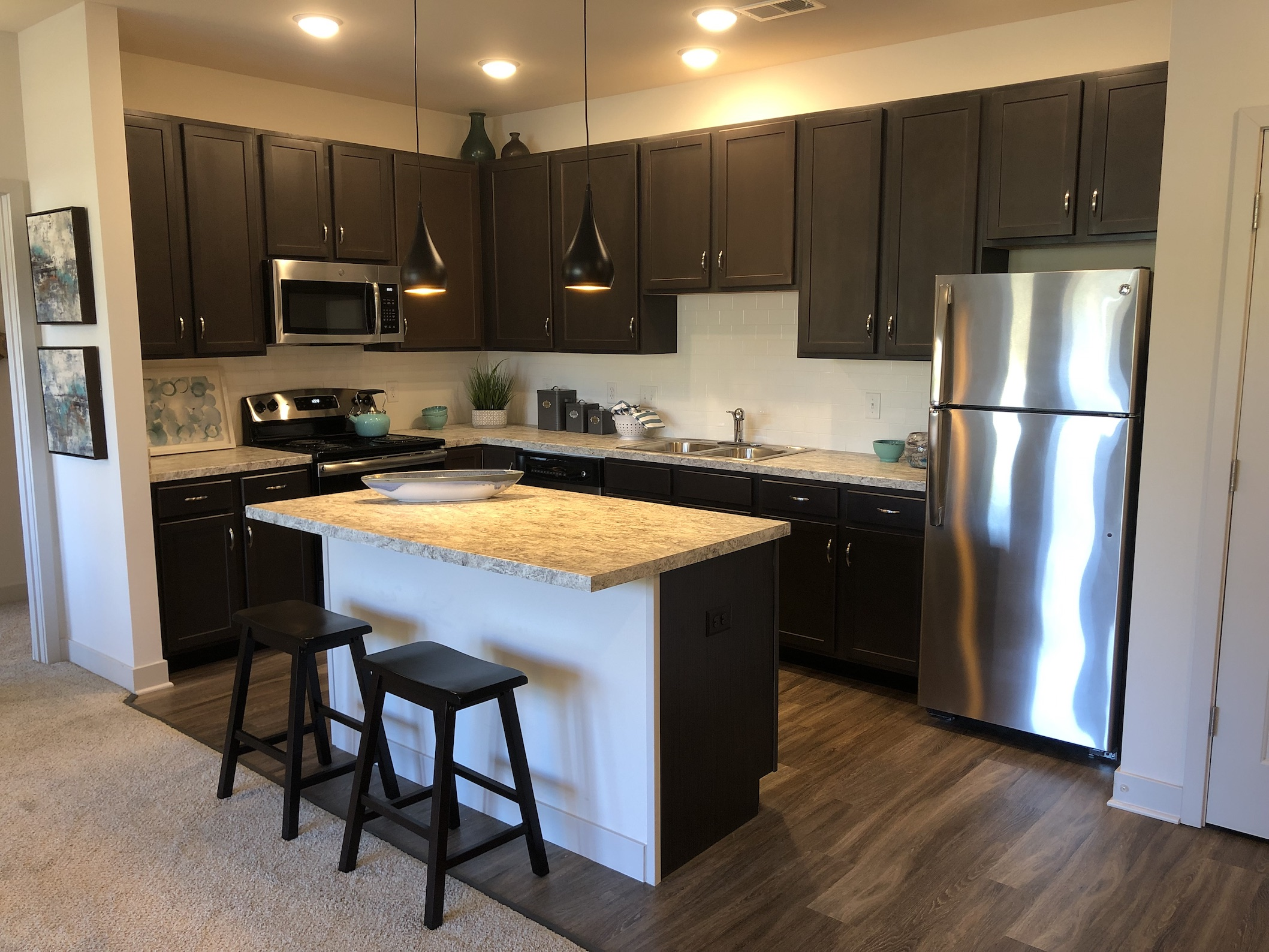 Stainless Steel Appliances at River Ridge Apartments in Loveland, Ohio