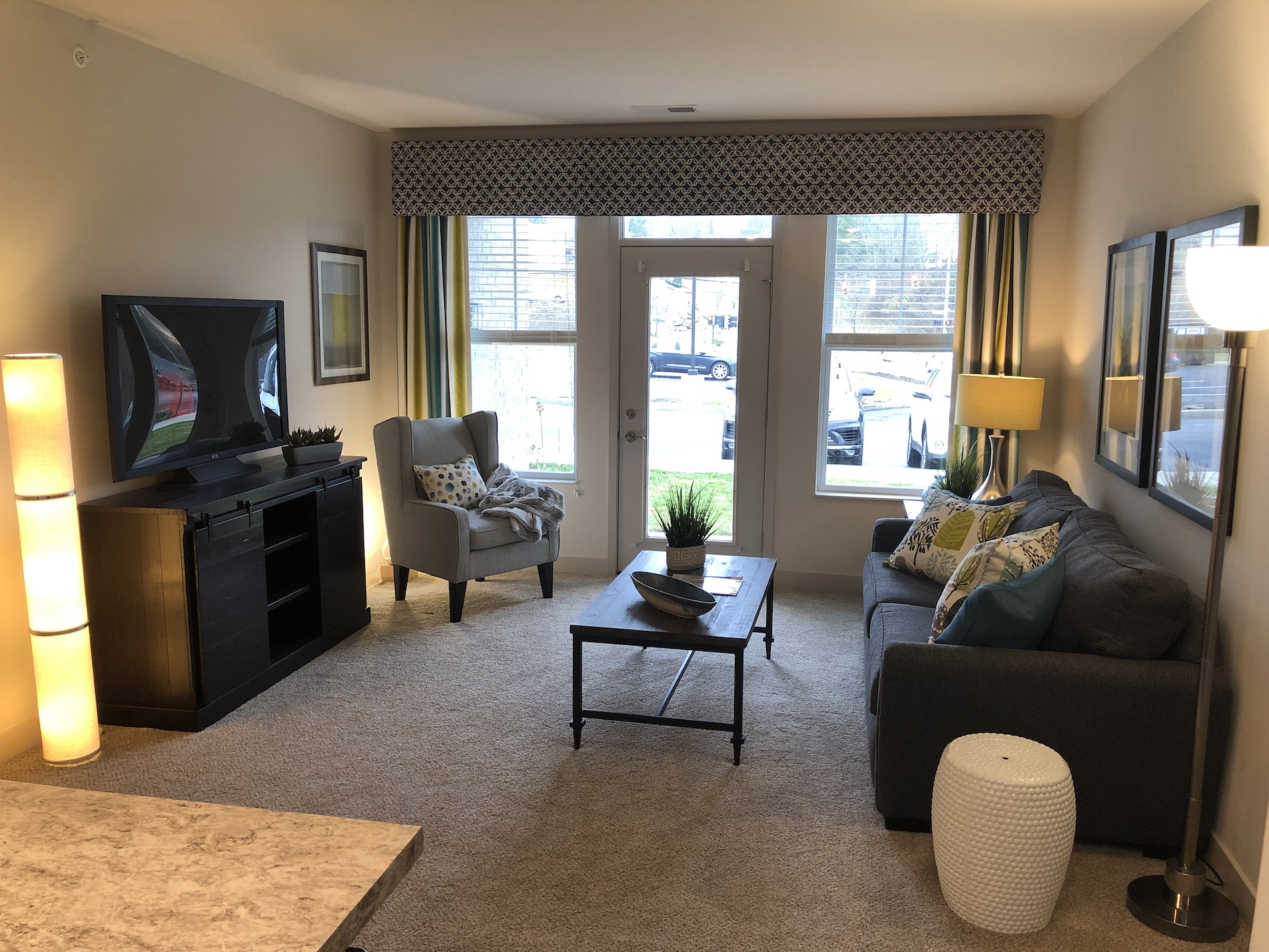Large Living Room Areas at River Ridge Apartments in Loveland, Ohio