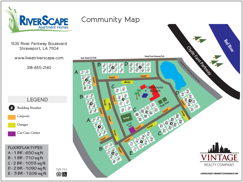 RiverScape Apartment Homes Site Plan