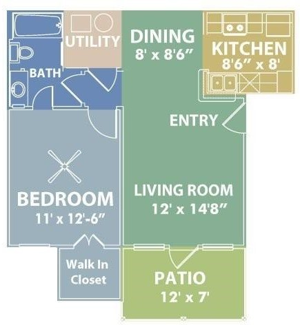 RiverScape Apartment Homes - Floorplan - A
