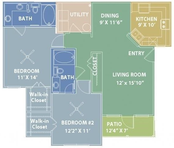 RiverScape Apartment Homes - Floorplan - D