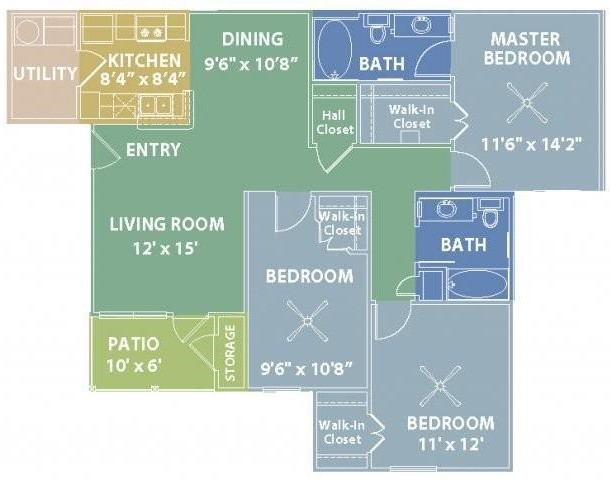 RiverScape Apartment Homes - Floorplan - E