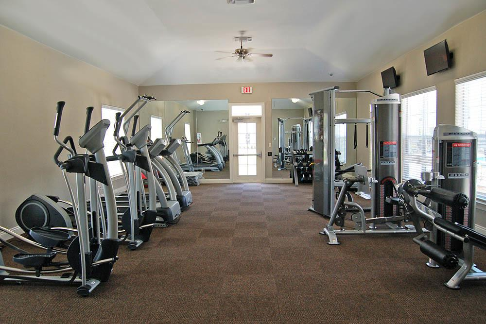 On-Site Fitness Center at RiverScape Apartments in Shreveport, Louisiana