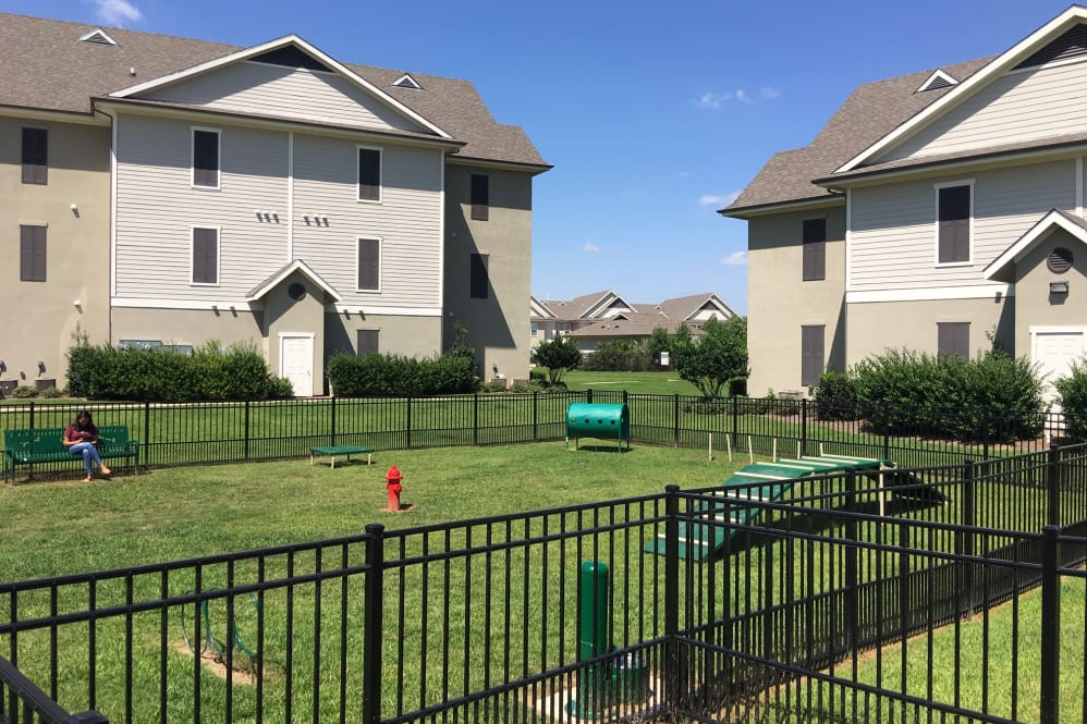 Private Dog Park at RiverScape Apartments in Shreveport, Louisiana