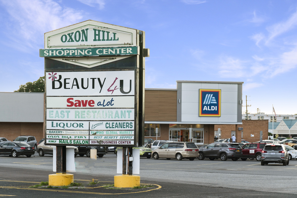 Walking distance to ALDI at Oxon Hill Shopping Center in Oxon Hill, MD