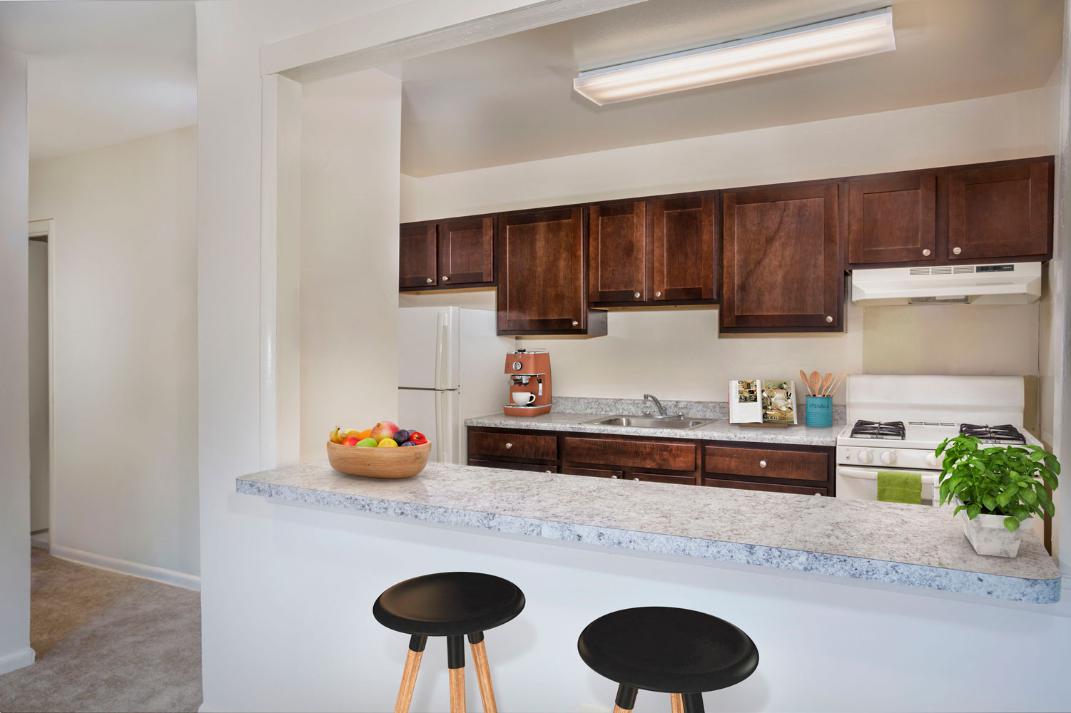 Upgraded kitchen (in select apartments) at Riverside Plaza Apartments in Oxon Hill, MD