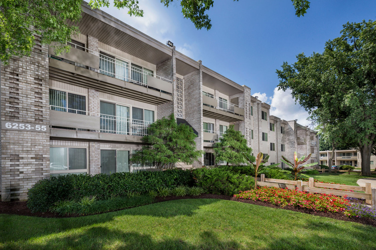 Large covered balcony or patio at Riverside Plaza Apartments in Oxon Hill, MD
