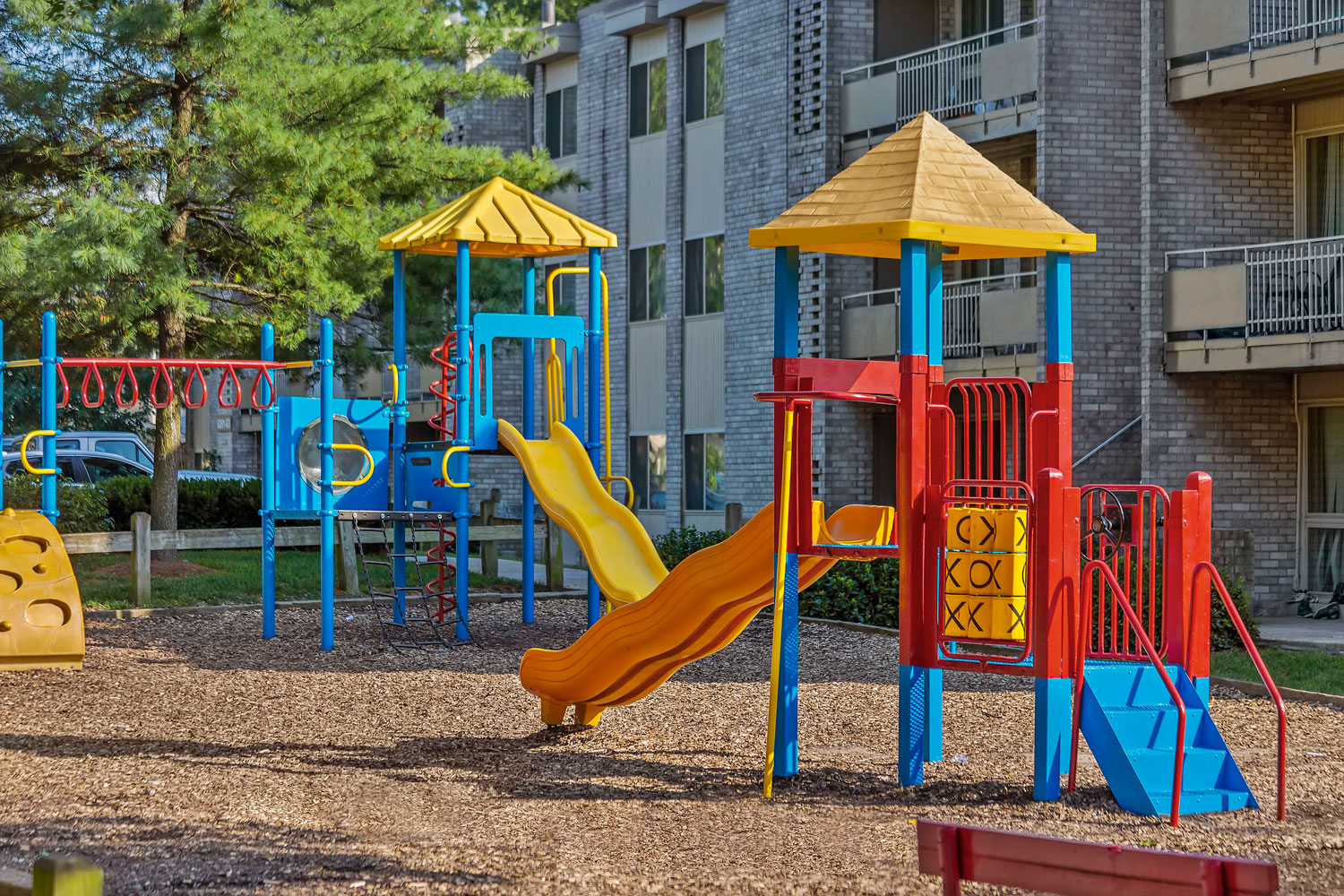 Play area at Riverside Plaza Apartments in Oxon Hill, MD