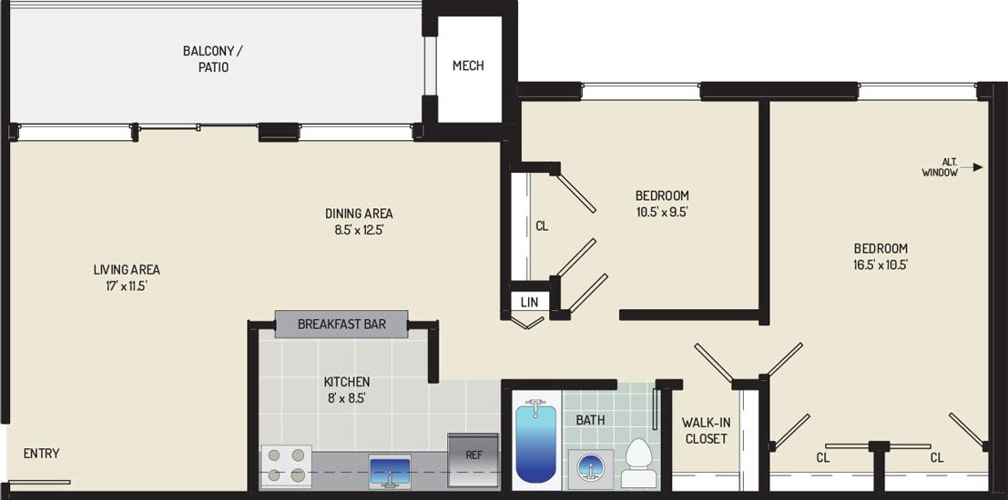 Riverside Plaza Apartments - Apartment 256251-103-D1