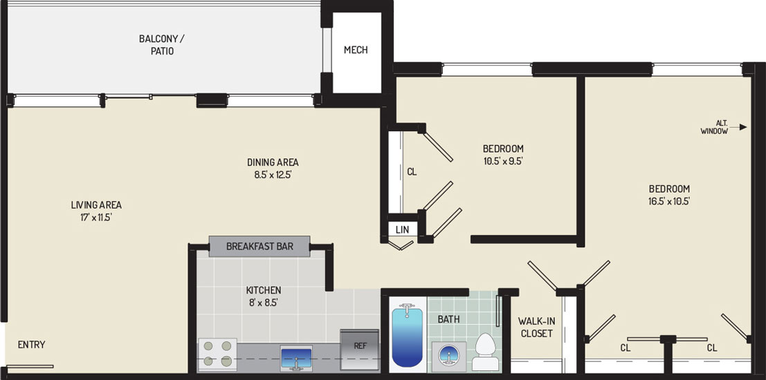 Riverside Plaza Apartments - Apartment 256271-101-D1